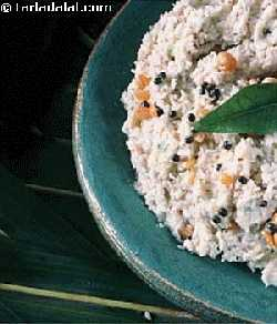 Coconut Chutney (Idlis & Dosas) is an authentic chutney prepared from coconut and flavoured with mustard seeds based tempering