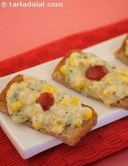 Corn and Cheese Toast