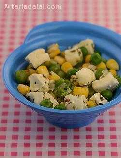 Corn and Peas with Cottage Cheese ( Baby and Toddler Recipe)
