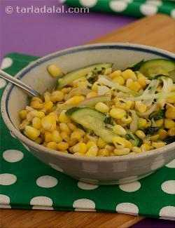 Corn and Zucchini Stir-fry