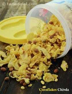 Corn Flakes Chivda ( Tiffin Treats)