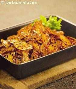 Crispy Lotus Stem Honey Chilli recipe | Stir Fry Recipes | by Tarla Dalal | Tarladalal.com