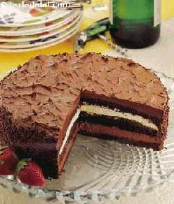 Double Layered Chocolate Truffle Gateau