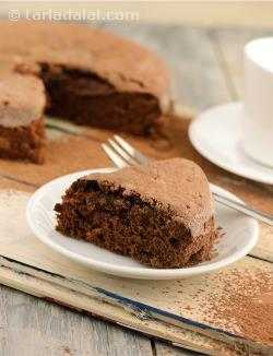 Fatless Chocolate Sponge Cake with Eggs