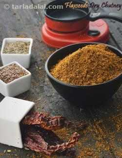 Flaxseeds Dry Chutney, South Indian Flax Seeds Podi
