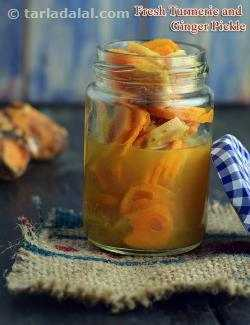 Fresh Turmeric and Ginger Pickle