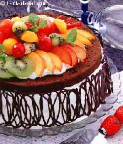 Fruit and Chocolate Gateau
