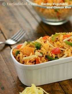 Garlicky Vegetable and Cheese Rice