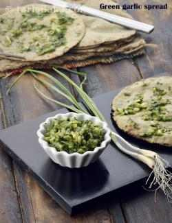 Green Garlic Spread, Spread for Rotis