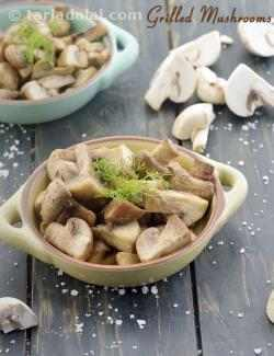 Grilled Mushrooms, Healthy Accompaniment