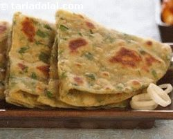 Hariyali Tofu Parathas (know Your Green Leafy  Vegetables)