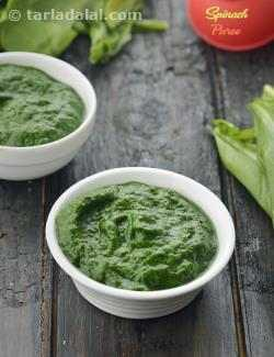 How To Make Spinach Puree and Blanched Spinach