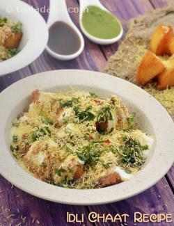 Idli Chaat Recipe, South Indian Snack