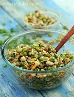 Masala Mixed Sprouts Salad with Coconut