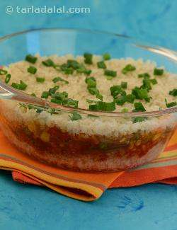 Jalfrazie Layered Brown Rice (zero Oil, Low Calorie and Diabetic)