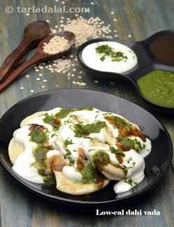 Low Cal Dahi Vada ( Non- Fried Snacks )