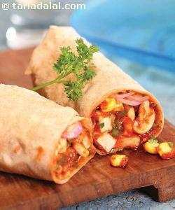Makai Khumbh Jalfrazie Roll ( Wraps and Rolls)