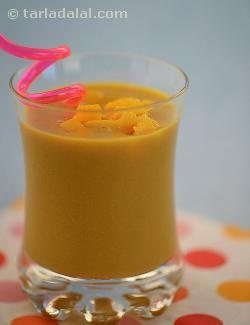 Sweet mango pulp adds taste and flavour to the soya milk making it an irresistible shake.