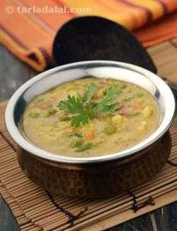 Masoor Dal with Mixed Vegetables