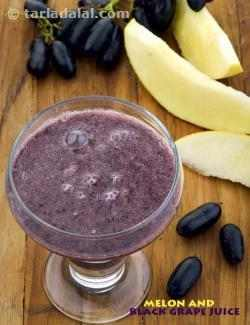 Melon and Black Grape Juice, Healthy Black Grape Juice
