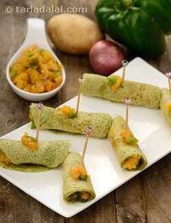 Stuffed Mini Dosas