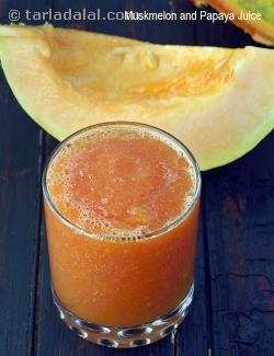 Musk Melon and Papaya Juice