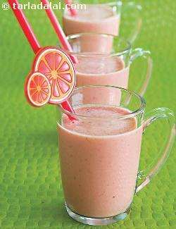 Orange and Strawberry Smoothie ( Burgers and Smoothie Recipe)