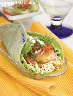 Paneer Tikki Salsa Wrap, Indian Wrap