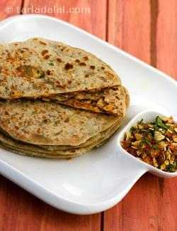 Papad Stuffed Parathas