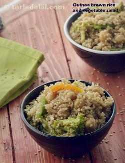 Quinoa , Brown Rice, and Vegetable Salad with Balsamic Dressing