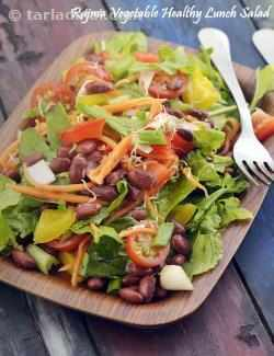 Rajma Vegetable Healthy Lunch Salad, One Dish Meal