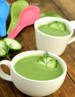 Ridge Gourd and Dill Soup