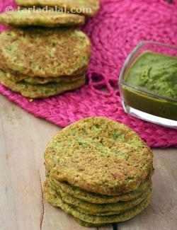 Green Moong Dal and Carrot Mini Pancakes