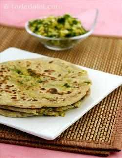 Soya and Cauliflower Parathas