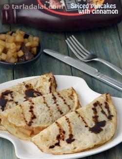 Spiced Pancakes with Cinnamon Pears