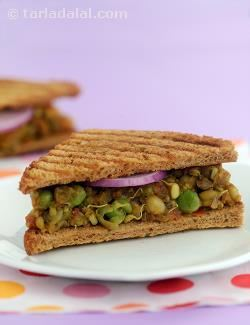 Spicy Sprouts Sandwich ( Healthy Breakfast)