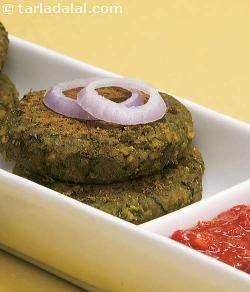 Spinach and Chana Kebab ( Healthy Starter Recipe )