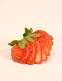 Strawberry Fan ( Fruit Carvings)
