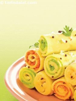 Stuffed Khandvi ( Non- Fried Snacks )
