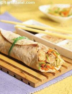 Thai Satay Paneer Wrap ( Wraps and Rolls)