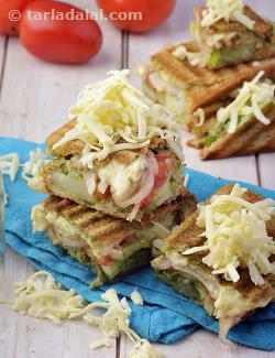Vegetable Cheese Grilled Sandwich, Veg Grilled Sandwich