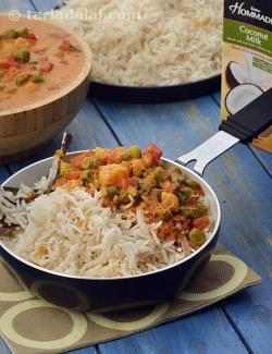 Coconut Vegetable Curry with Coconut Rice