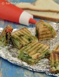 Vegetable Grill Sandwich ( Mumbai Roadside Recipes )