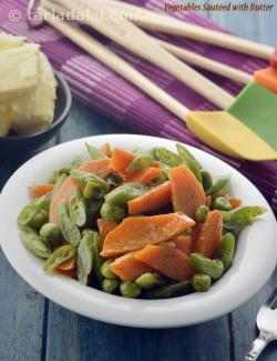 Vegetables Sautéed with Butter
