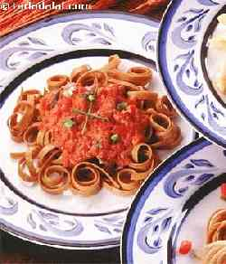 Whole Wheat Fettuccine with Medici Sauce
