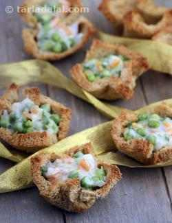 Whole Wheat Vegetable Tartlets
