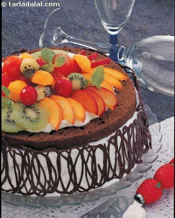 Eggless Chocolate Cake Recipe Tarla Dalal Video