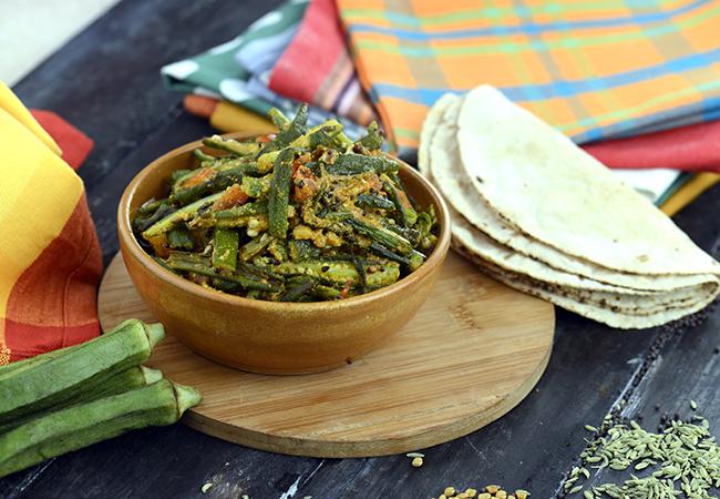 अचारी दही भिंडी रेसिपी | पंजाबी दही भिंडी सबजी | अचारी दही भिन्डी | दही वाली भिंडी - Achari Dahi Bhindi, Punjabi Sabji