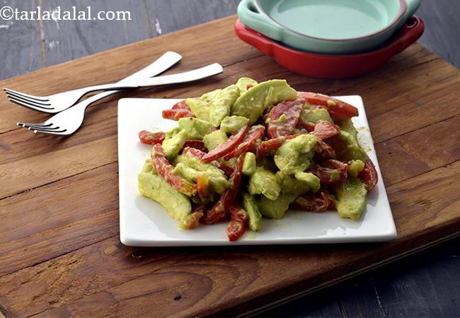 Avocado and Tomato Salad, Healthy and Quick Salad