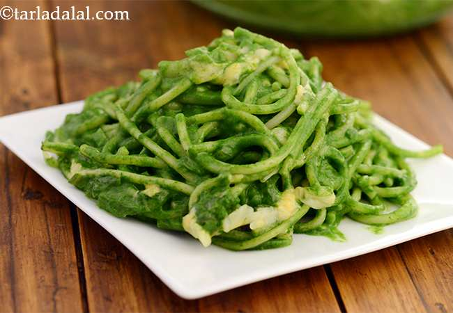 Baked Spinach with Spaghetti